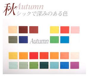 秋に当てはまる方の似合う服装や色