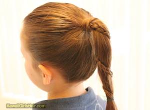 入学式の女の子の三つ編みの髪型10