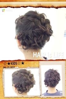 小学生の卒業式のショート女子の編み込みのヘアアレンジ