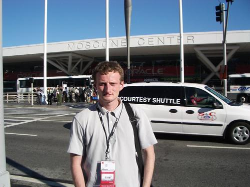 Tanel at Oracle OpenWorld conference