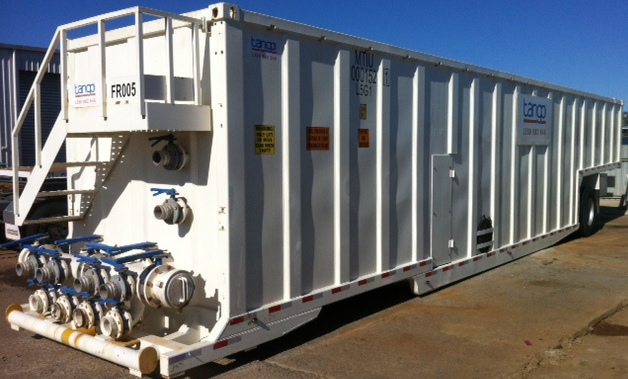Flowback Tank with manifold (Tango Oilfield Rental Solutions)