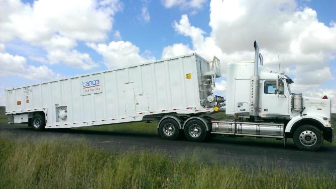 Mobile Frac Tank on truck (Tango Oilfield Rental Solutions)