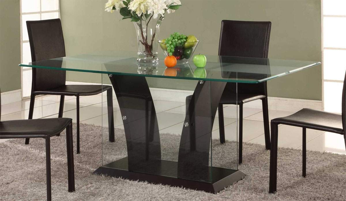 dining table designs in wood and glass glass kitchen table Modern Contemporary Glass Wood Dining Tables Image 13 of 19