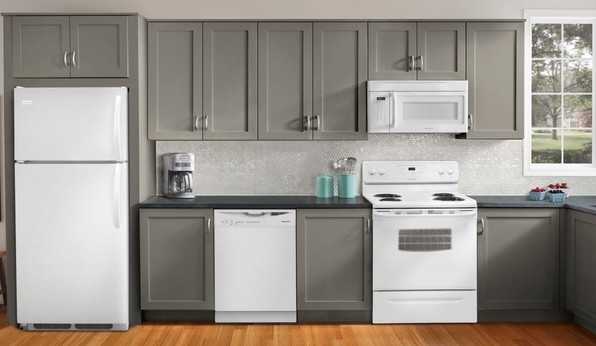 Kitchen appliance package deals costco grey kitchen cabinet grey granite countertop laminated wood kitchen floor white backsplas glass tile kitchen wall white kitchen appliance microwave