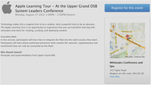 Apple Learning Tour | Upper Grand District School Board UGDSB | Secondary Mathematics iPad Session