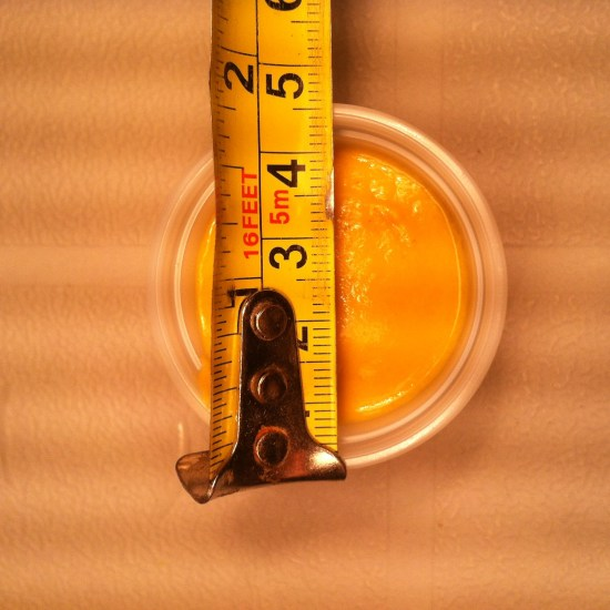 Mustard Meyhem Real World Math Task - Diameter of the Top of the container
