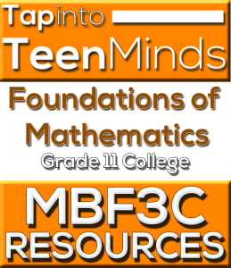 MBF3C Grade 11 College Math Resources