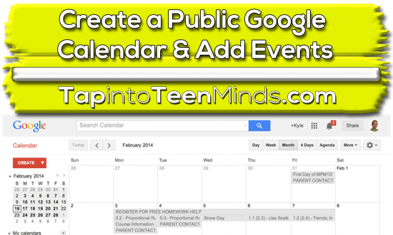 How to Create a Public Google Calendar and Add Public Events