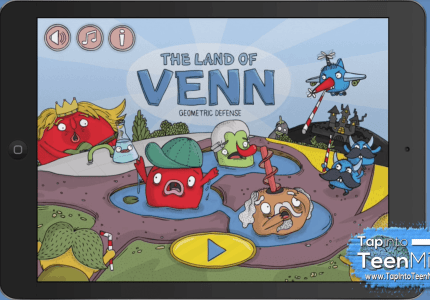 The Land of Venn - Geometric Defense Opening Screen