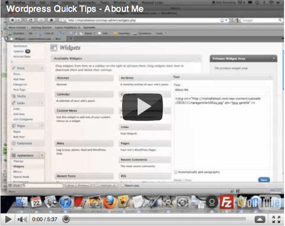 WordPress Quick Tips: About Me Blurb