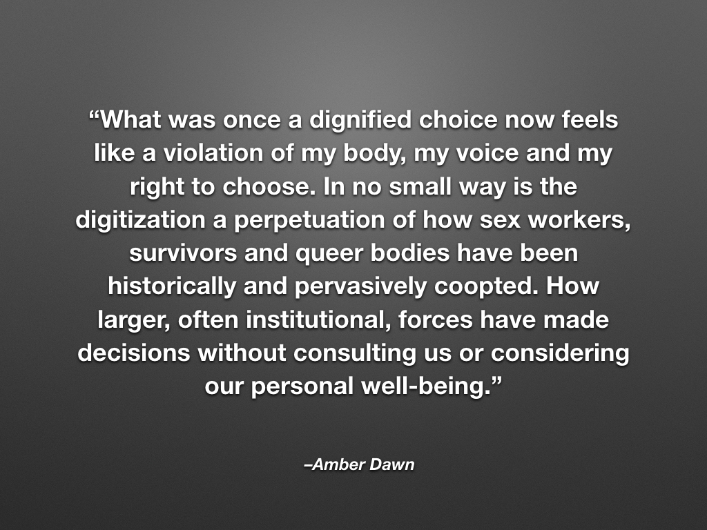 tara robertson systems librarian and accessibility advocate quote from amber dawn continued