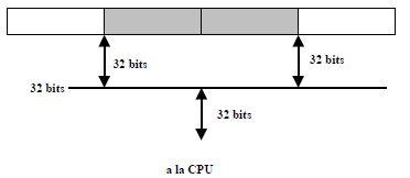 Alineación de los bytes gráfico