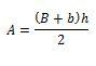 Trapecio formula