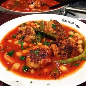 كرات اللحم بالثوم الطريقة الجزائرية pesto-turkey-meatbal