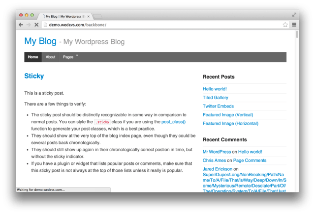 WP Backbone theme