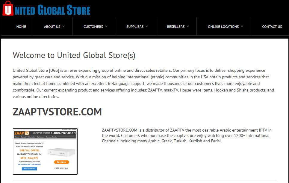 United Global Store Online Stores