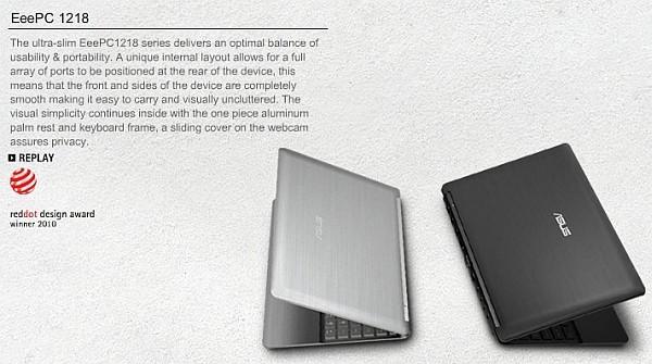 4 29 10 eeepcreddotdesign3 [netbook] Asus Eee PC 1218 pode vir con Ion (e mais portáteis chegarão em 13 de maio)
