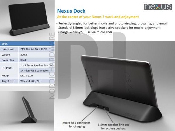 google nexus 7 dock leak Vazam imagens dos novos acessórios da ASUS para o Nexus 7