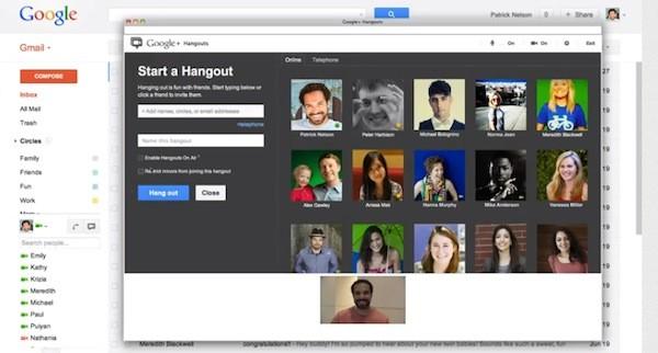 hangouts in gmail youtube Google integra o Hangout ao Gmail