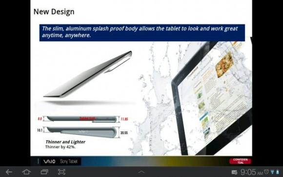 sony xperia tablet leak 1 580x362 Sony Xperia Tablet é revelado em slides da empresa