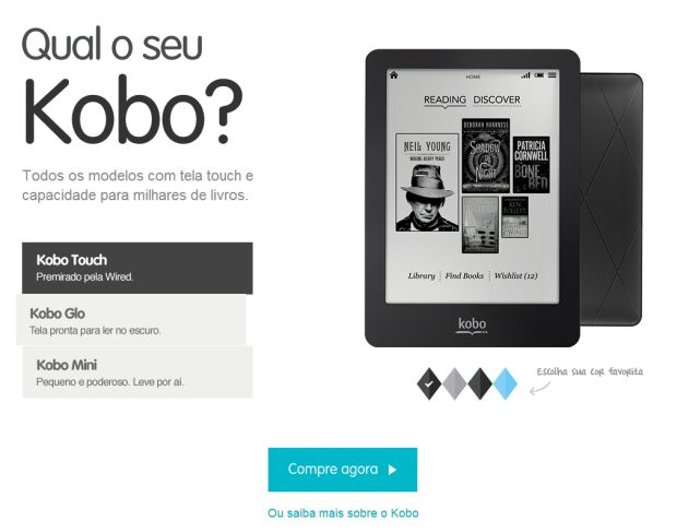 ereaders kobo Conheça um pouco melhor o Kobo Touch, o e reader da Livraria Cultura