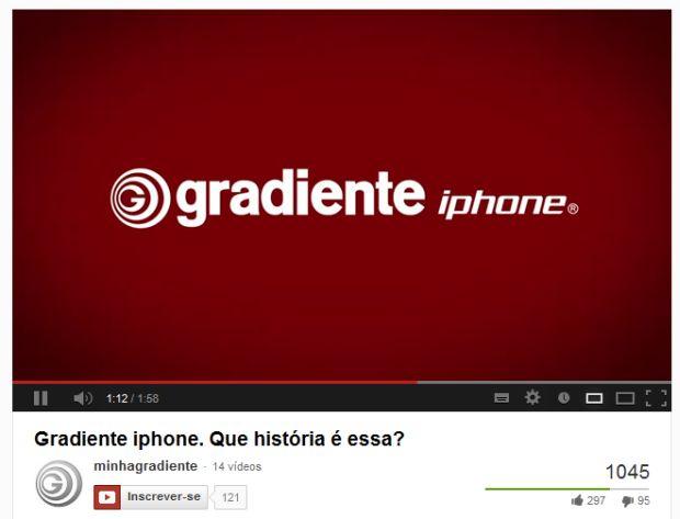 gradiente iphone Gradiente publica vídeo explicando o seu IPHONE e as diferenças para o iPhone da Apple