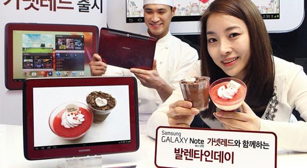 garnet red 1 Samsung Galaxy Note 10.1 se pinta de vermelho