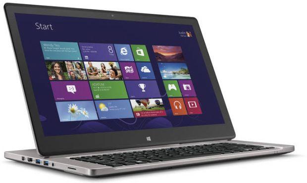 Acer R7 01 Acer Aspire R7 é um notebook híbrido, com múltiplas possibilidades