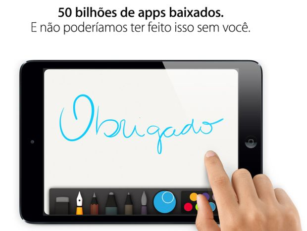 apple 50 bilhoes downloads Apple App Store alcança a marca de 50 bilhões de downloads