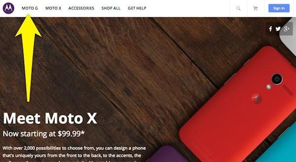 moto g 2 E o termo Moto G, que apareceu repentinamente no site da Motorola?