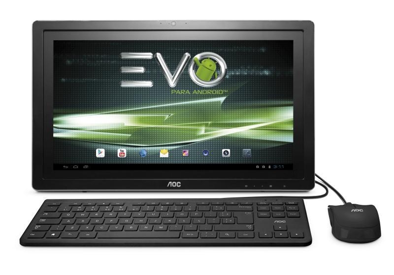 EVO Android Preto Frontal JPG AOC lança linha de computadores Evo com sistema operacional Android