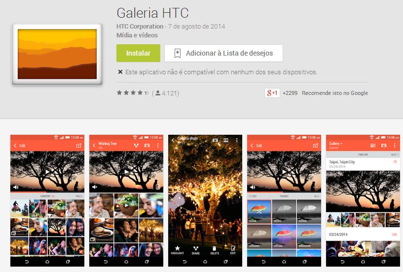 galeria htc app Os efeitos de câmera do HTC One (M8), em forma de aplicativo Android