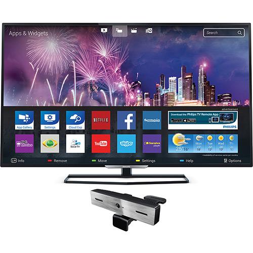119979084 1GG Dicas de Compras | Smart TV LED 32 Phililps 32PHG5509/78  + Câmera Skype, por R$ 899