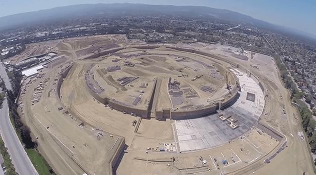apple obra Novo campus da Apple começa a tomar corpo (em vídeo)