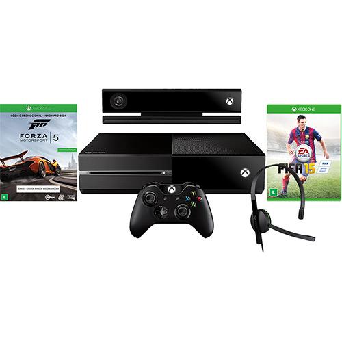 120901655 1GG Dicas de Compras | Xbox One 500GB + Kinect + 2 Jogos + Headset + Controle Sem Fio, por R$ 1.699