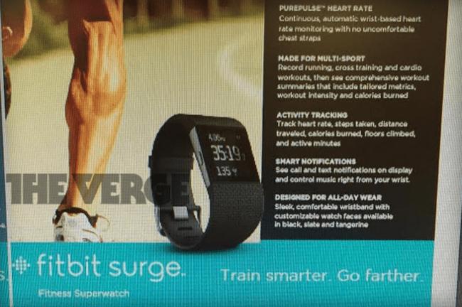 650 1000 surge Vazou na web o Fitbit Surge, mais um relógio inteligente