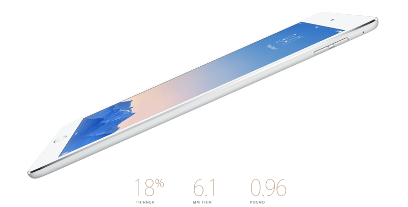 apple ipad air 2 Apple iPad Air 2 é oficial: mais fino e mais potente
