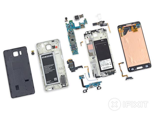 galaxy alpha despiece Samsung Galaxy Alpha é desmontado pelo iFixit