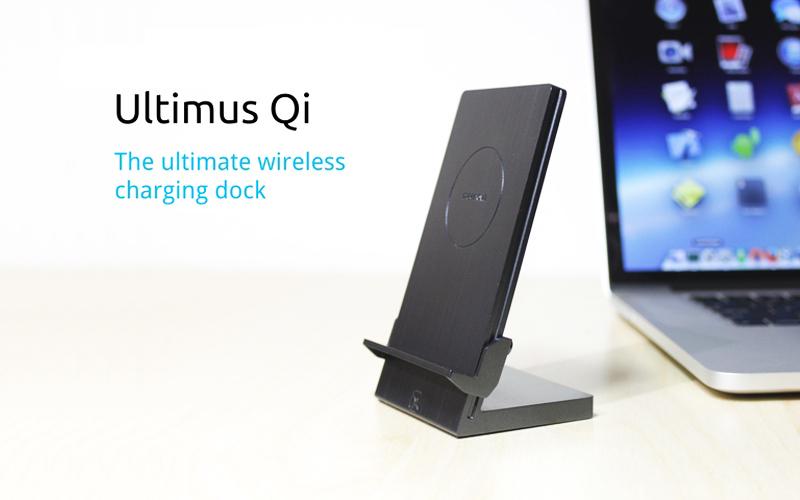 ultimusqi Ultimus Qi, um dock de recarga sem fio para o iPhone 6