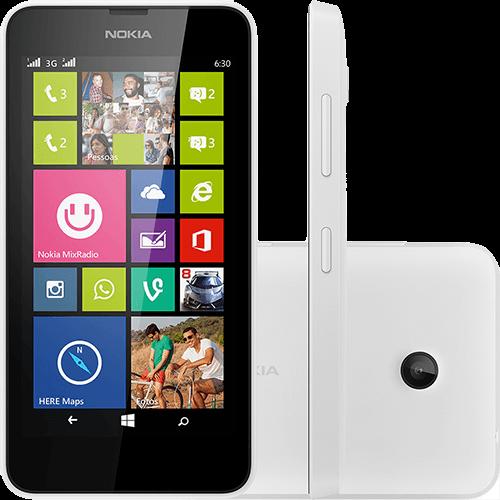 119597801 1GG Black Friday 2014 | Smartphone Nokia Lumia 630 Branco, por R$ 339