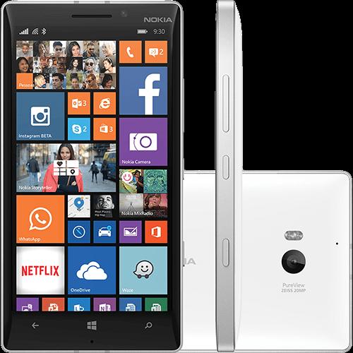 120080703 1GG Black Friday 2014 | Smartphone Nokia Lumia 930 Desbloqueado Branco, por R$ 879