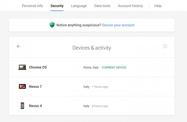 DeviceActivity UI Vigie os seus gadgets com o painel de dispositivos e atividades do Google