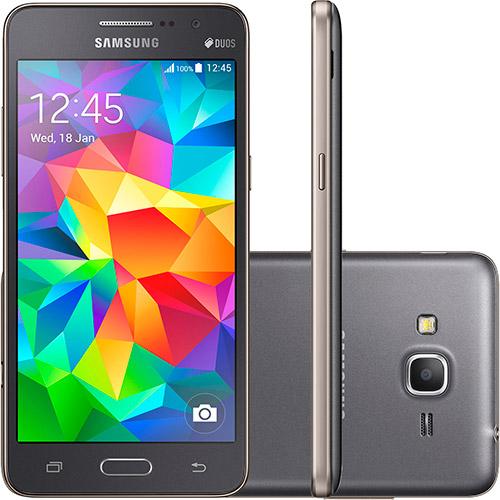 120803991 1GG Dicas de Compras | Smartphone Samsung Galaxy Gran Prime Duos Cinza, por R$ 746