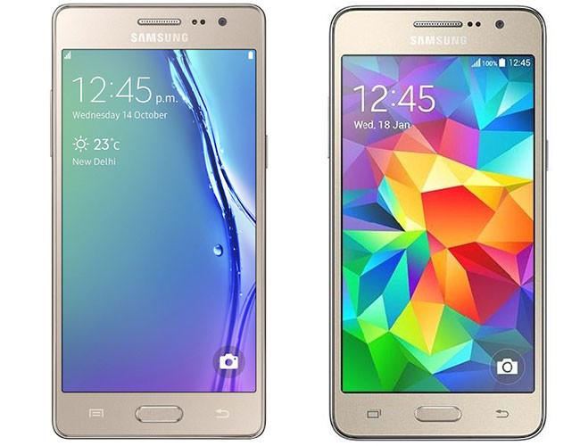 Samsung Z3, e Samsung Galaxy Grand Prime, lado a lado