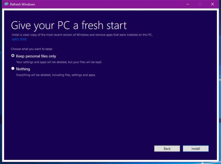 Refresh Windows Tool-02