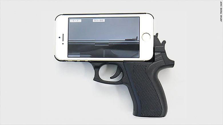 case em forma de revolver