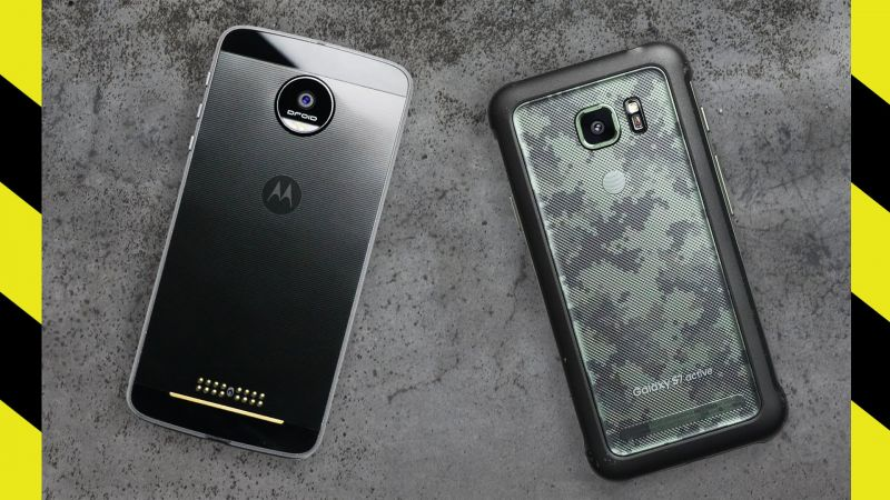 Moto Z Force vs. Galaxy S7 Active Drop Test