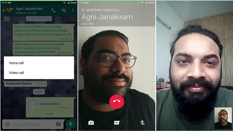 whatsappp videochamadas