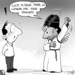 Caricatura sobre Evo Morales