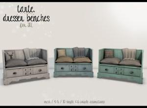 tarte. dresser benches - vendor